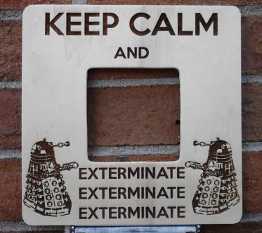 Keep Calm and Exterminate Doctor Who Dalek Picture Frame