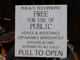 """Custom 2 Layer Tardis Police Box Sign, 12"""" x12"""". Made of white and black laser cut acrylic."""