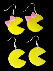 Pac-Man and Ms. Pac-Man Earrings