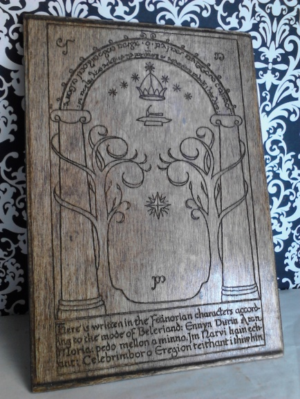 Gate of Moria, Door to Durin Plaque LOTR