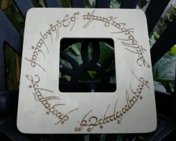 Lord of the Rings, The One Ring Script Picture Frame