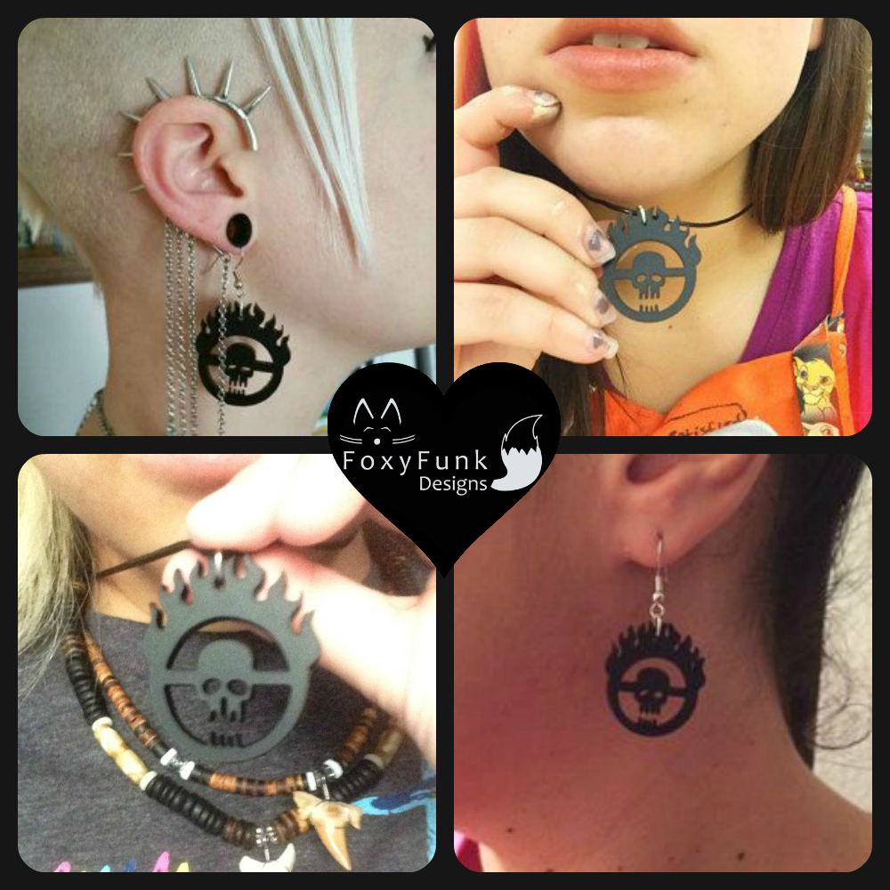 FoxyFunk Designs Mad Max War Boys Necklace and Earrings Customer Photo