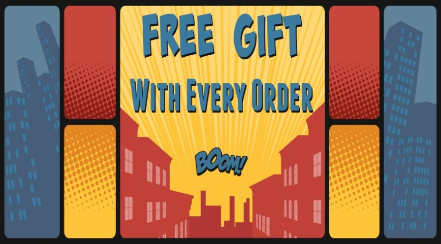 Super Hero free gift promo foxyfunk designs