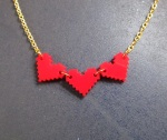 8 bit pixel retro gamer life bar hearts gold chain necklace foxyfunk designs nerd health (3)