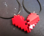 8 bit pixelated friendship necklaces (4)