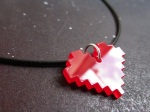 8 Bit Pixelated Life Heart necklace (2)