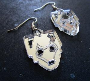 Doctor Who Cyberman Head Earrings