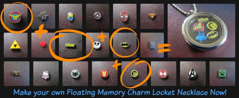 floating charm memory locket necklace by foxyfunk designs