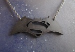 Batman vs superman black cutout necklace (5)