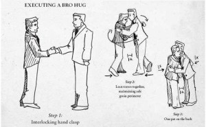 bro hug instructions