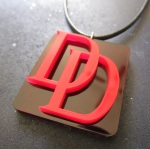 DareDevil Logo Pendant Necklace laser cut red acrylic (5)