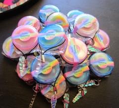 Freakin' Unicorn Lip Gloss Balm with Unicorn Horn Charm Strap, Fantasy Rainbow Magical Kawaii Girl Lip Shine (1)
